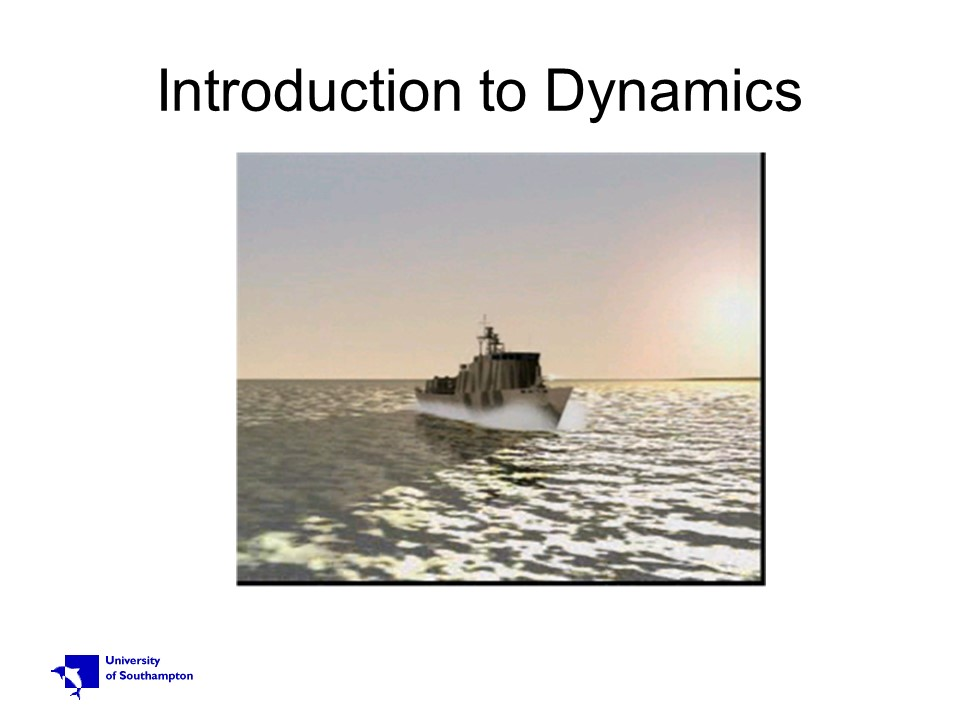 Introduction to Dynamics - old